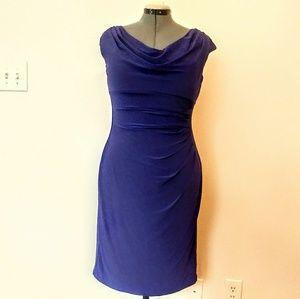 NWT Ralph Lauren Gathered Purple Midi Dress